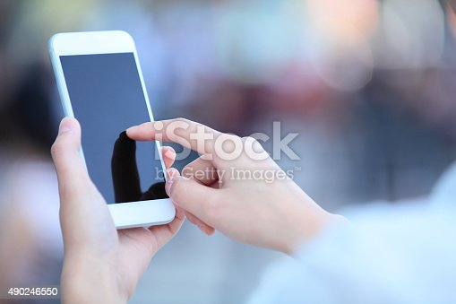istock Touching Smart Phone 490246550