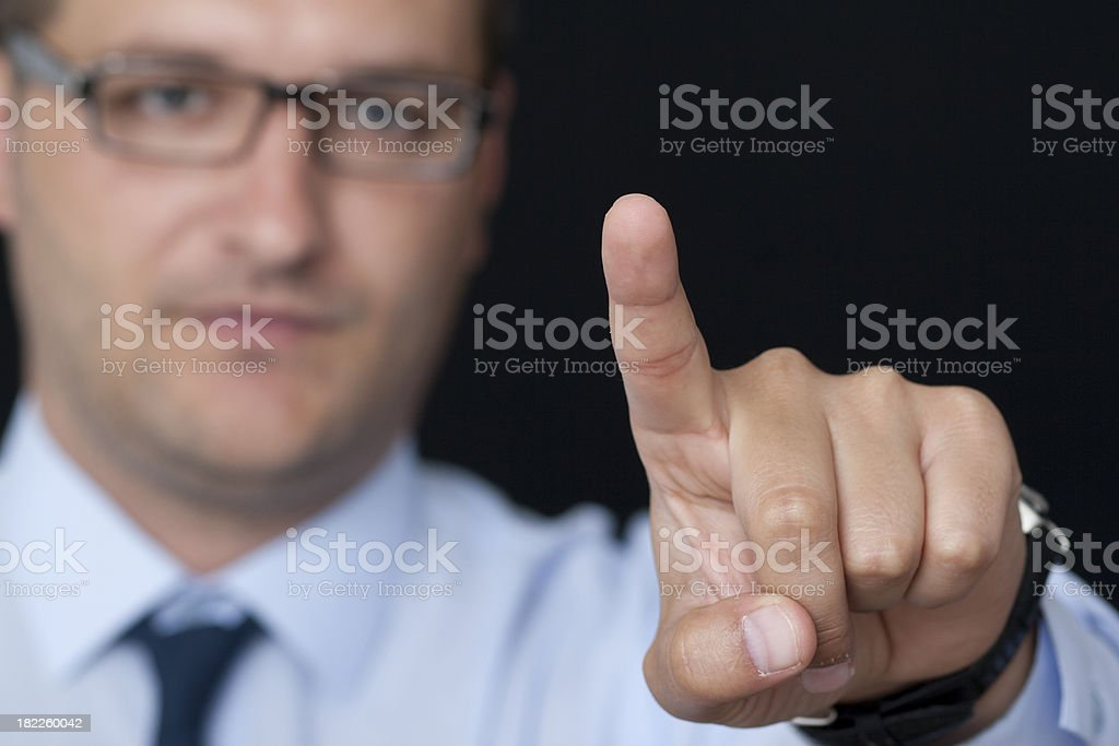 Touching the Glass royalty-free stock photo