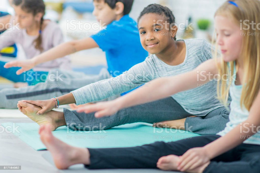 Touching Toes stock photo