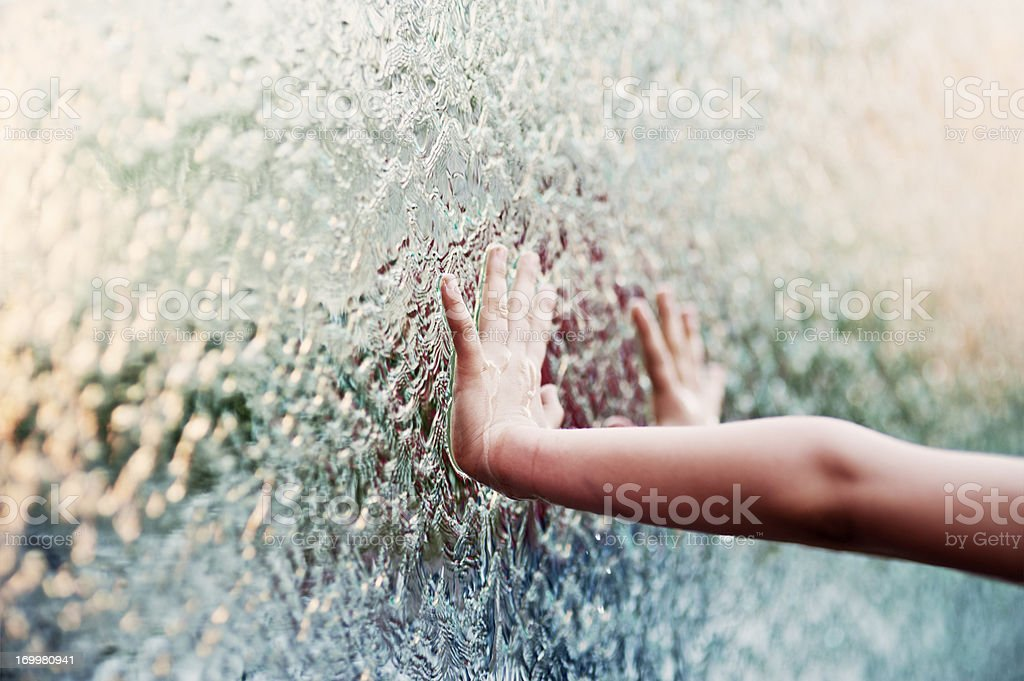 Touching water royalty-free stock photo