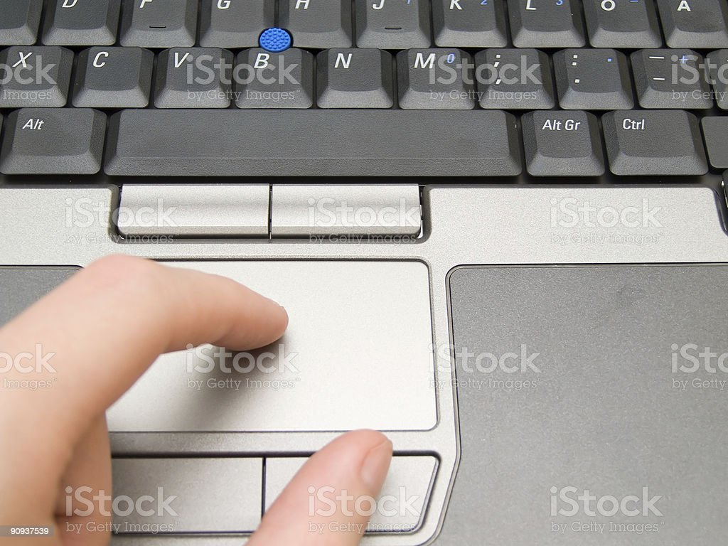 Touchpad on Laptop royalty-free stock photo