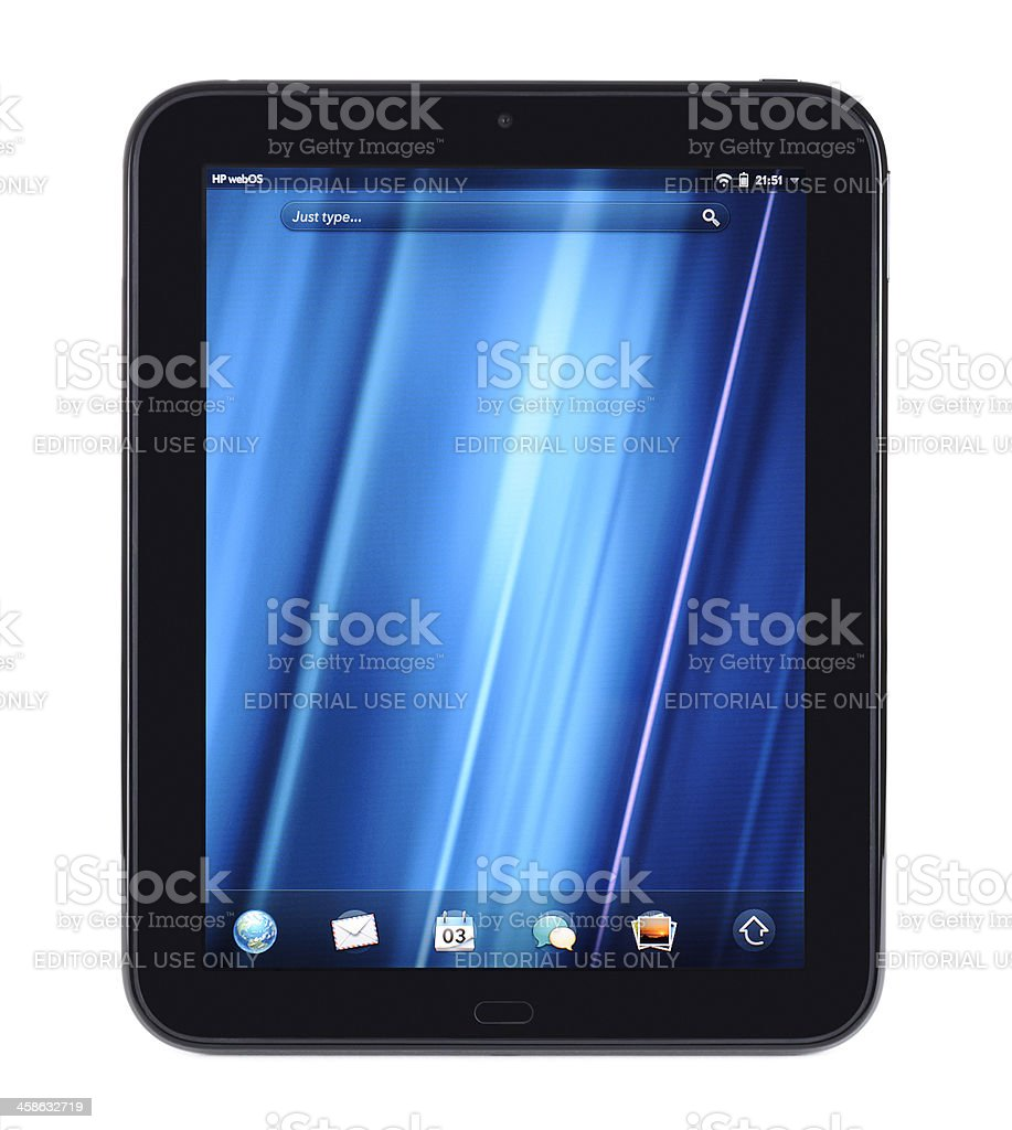 HP TouchPad royalty-free stock photo