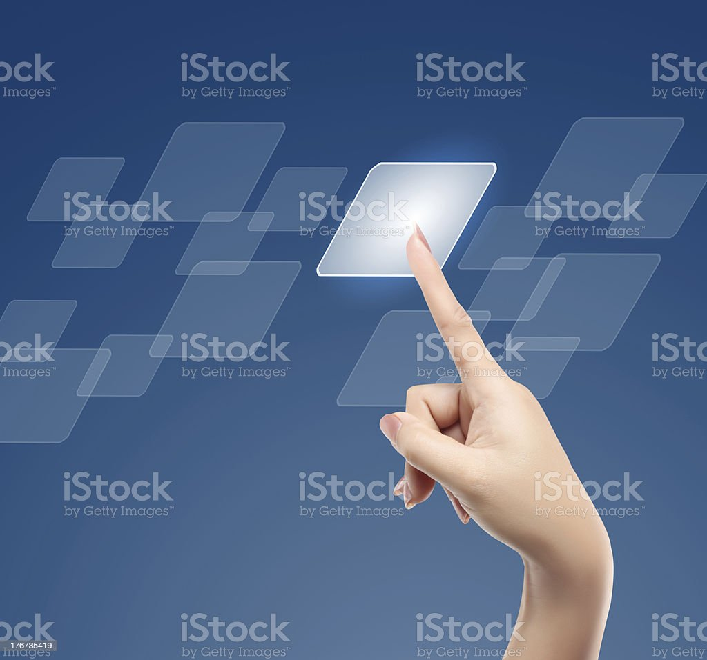 touchscreen button royalty-free stock photo