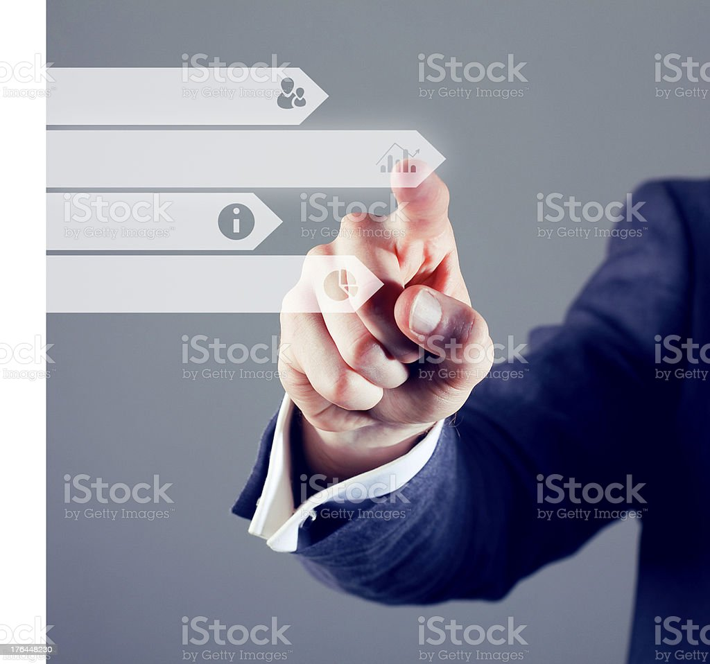 Touchscreen infographic stock photo