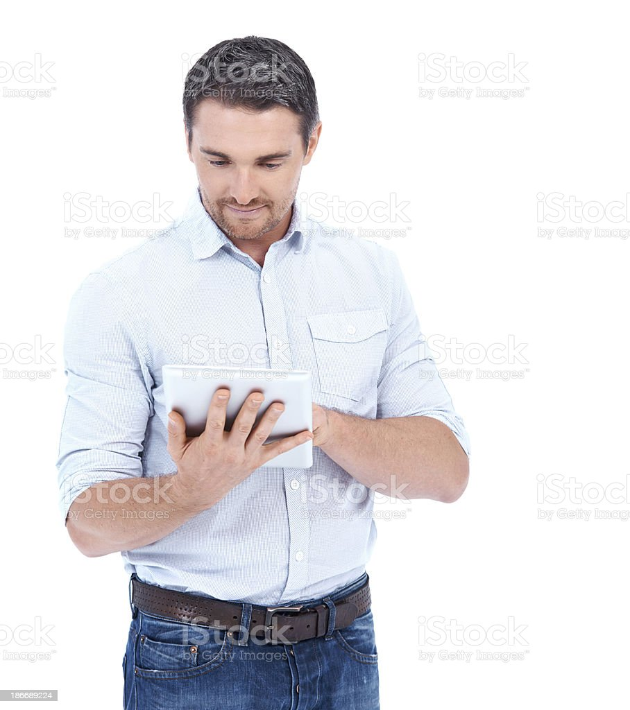 Touchscreen navigation royalty-free stock photo