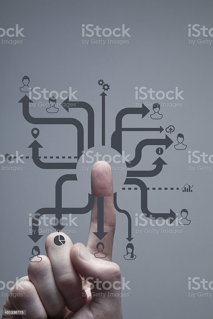 Touchscreen network royalty-free stock photo