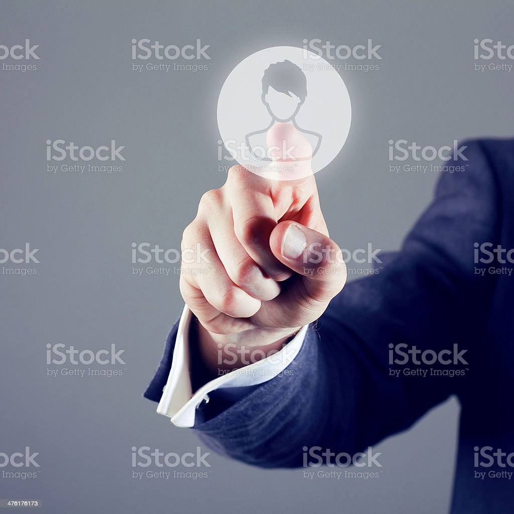 Touchscreen person icon royalty-free stock photo