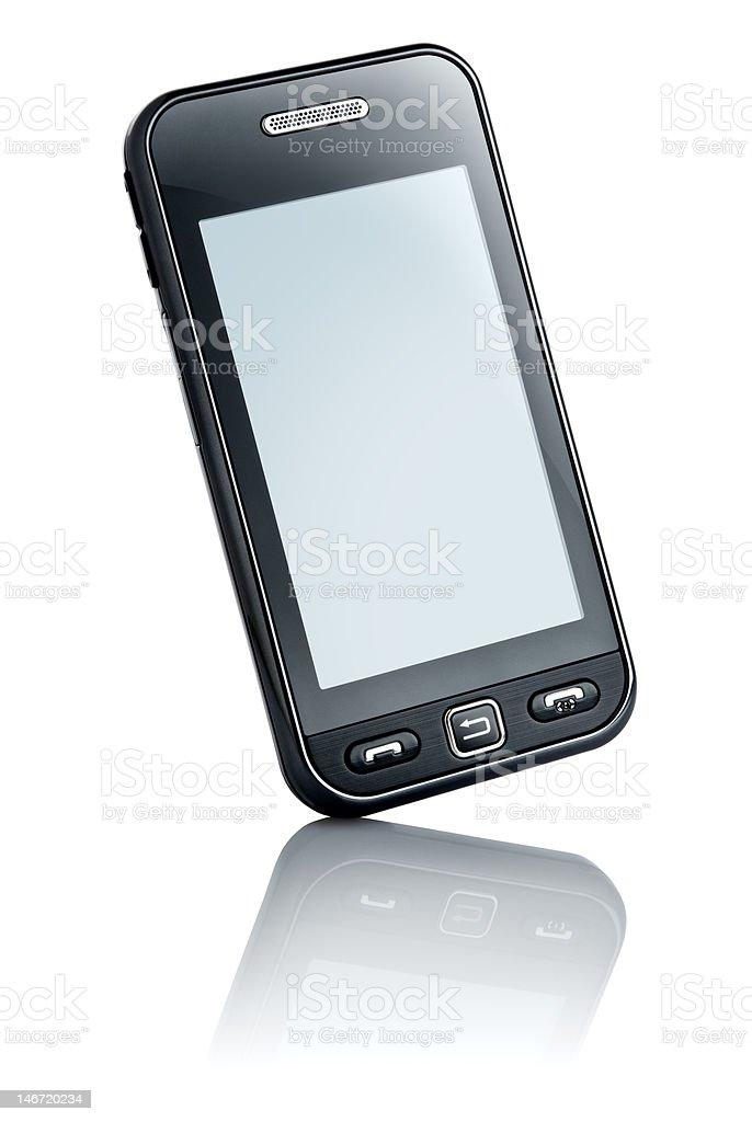 touchscreen phone stock photo