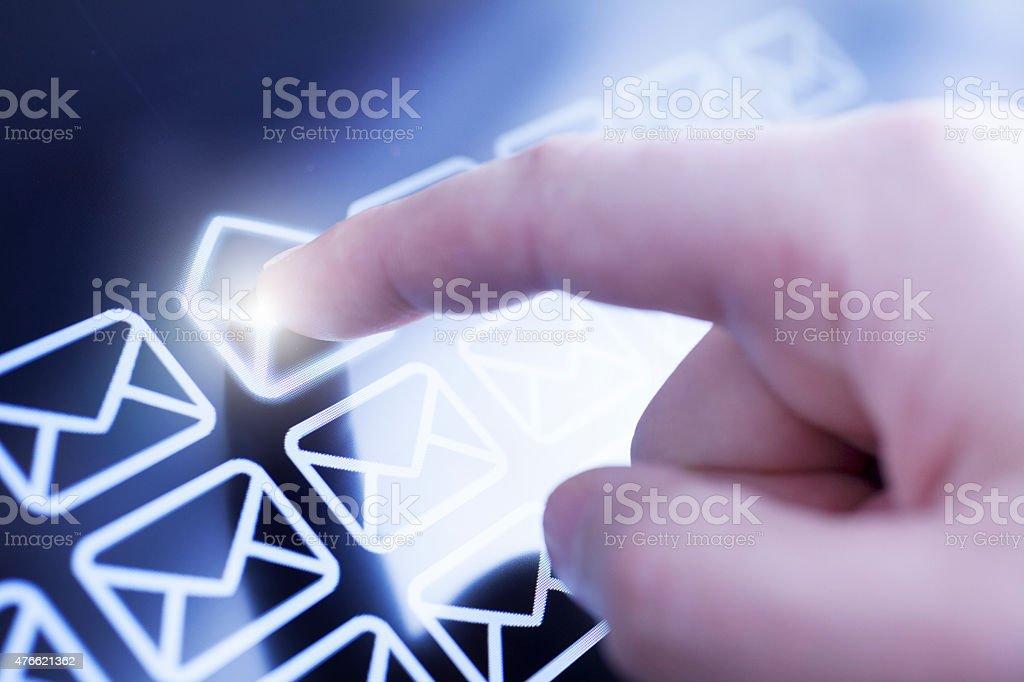 Touchscreen stock photo