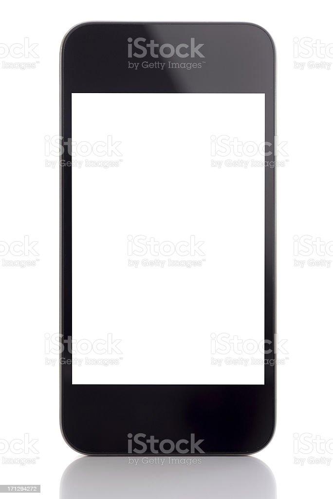 Touchscreen smart phone royalty-free stock photo