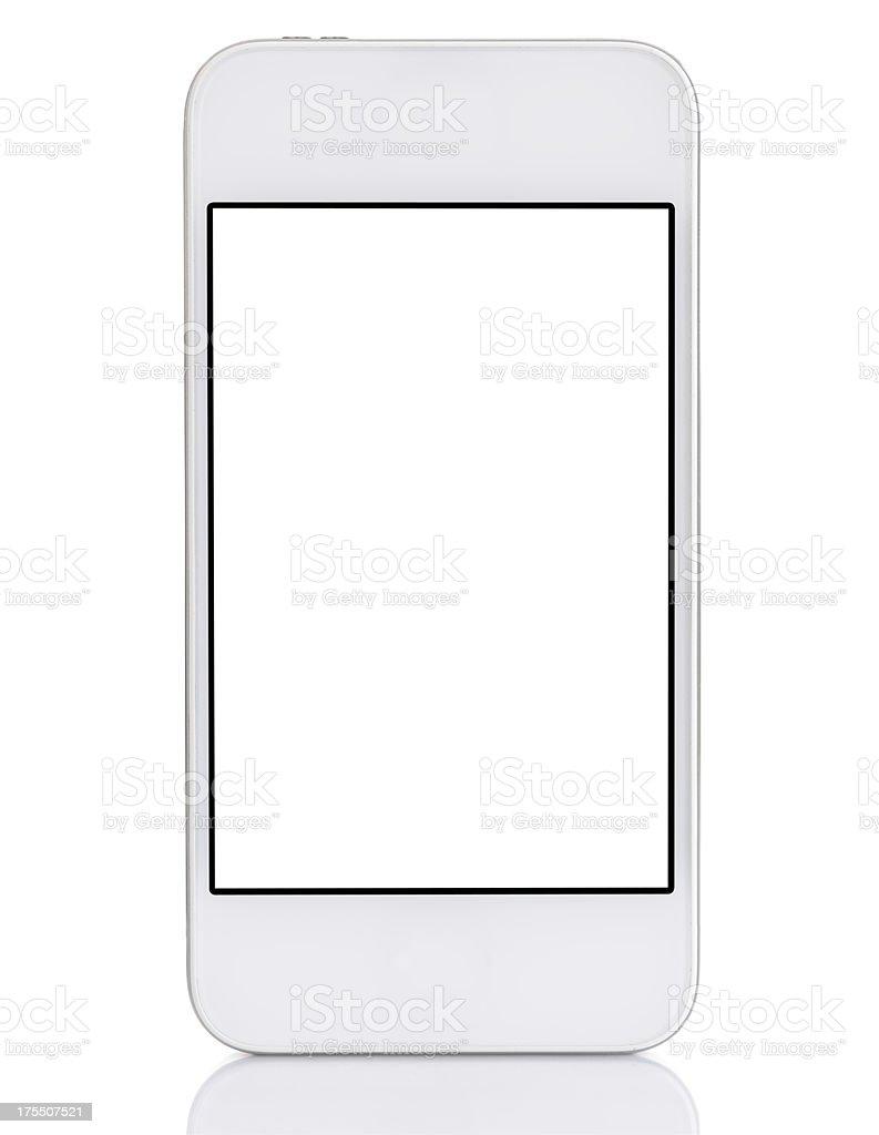 Touchscreen white smart phone stock photo