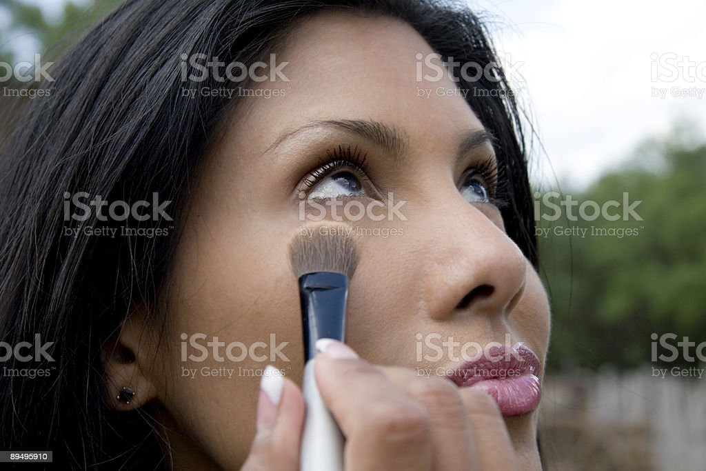 Touch-up Before the Shoot royalty free stockfoto