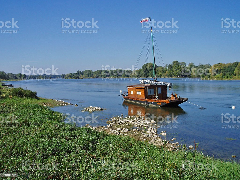 Toue de Loire royalty-free stock photo