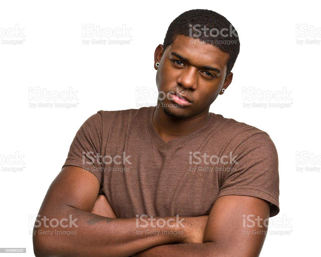 Tough Big Young Man stock photo