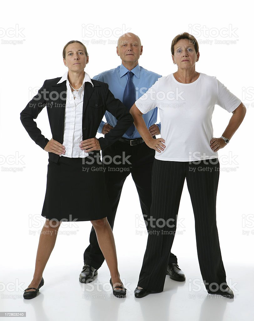 tough business team royalty-free stock photo