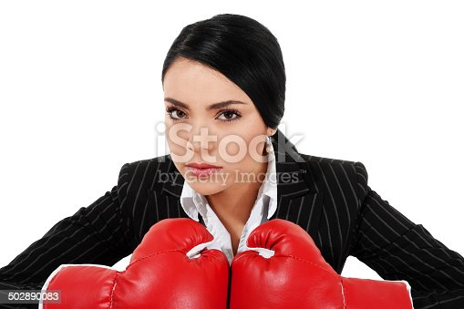 464164875 istock photo Tough Businesswoman 502890083