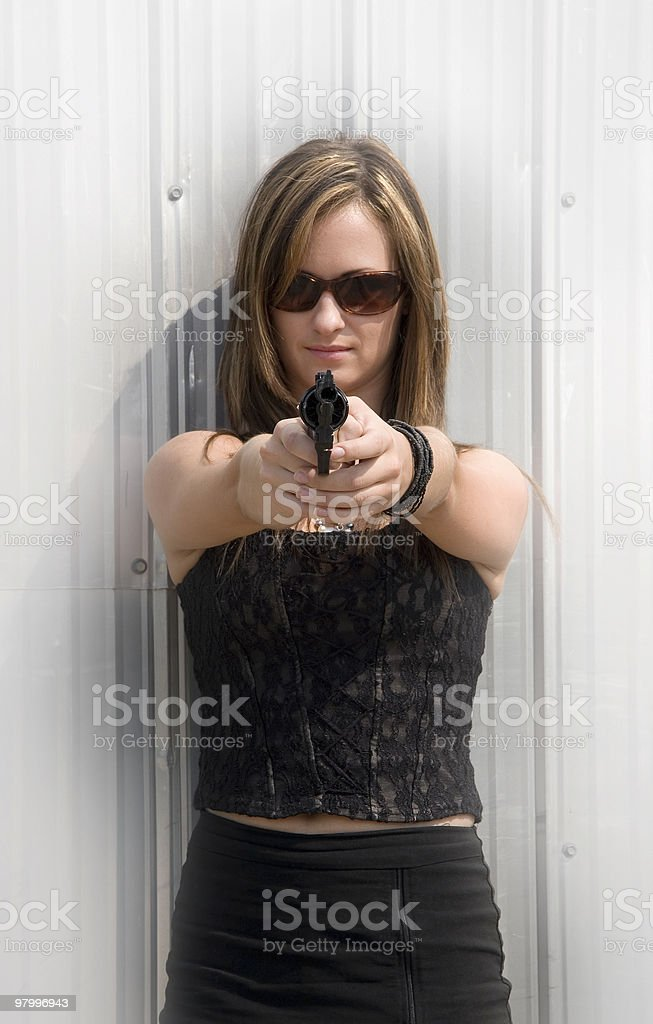 tough chick royalty-free stock photo