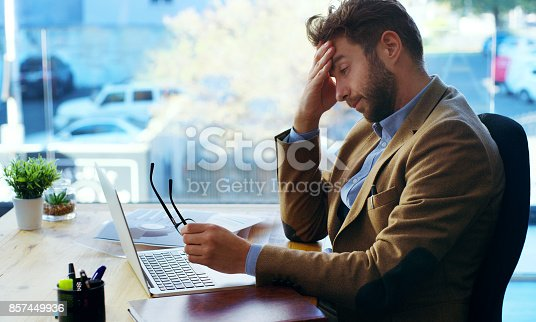 istock Tough day at the office 857449936