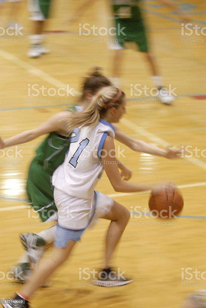 Tough defense on the baseline stock photo