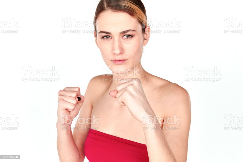 Tough girl stock photo