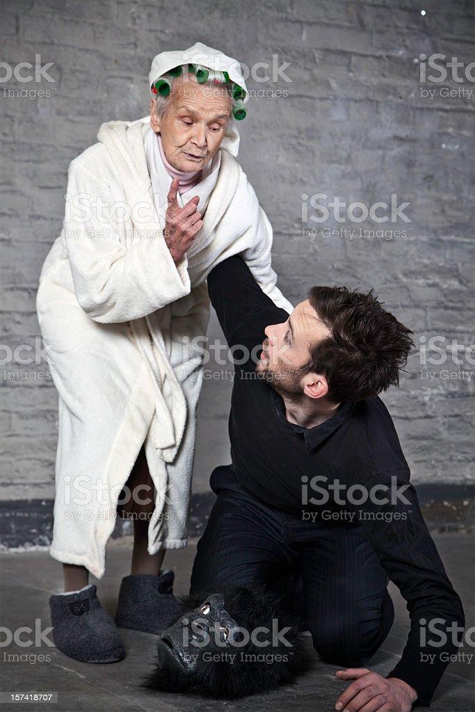Tough grandma royalty-free stock photo