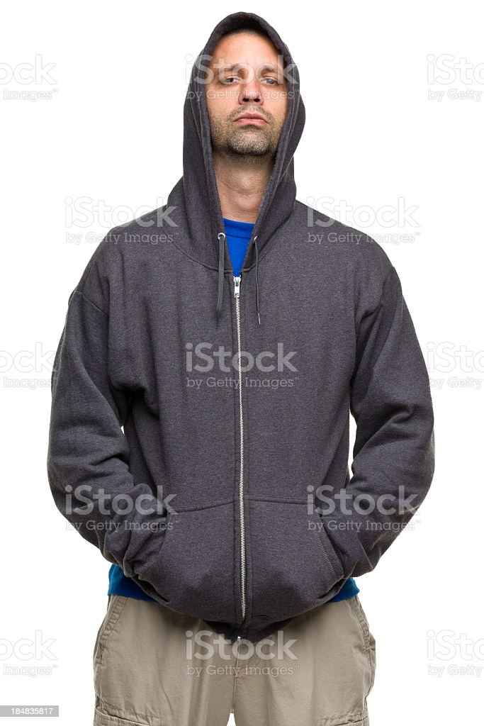 Tough Guy In Hoodie Stock Photo   More Pictures of 30-34 Years  dd0e8ce03