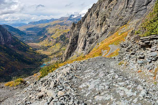 Tough High Mountain Road stock photo
