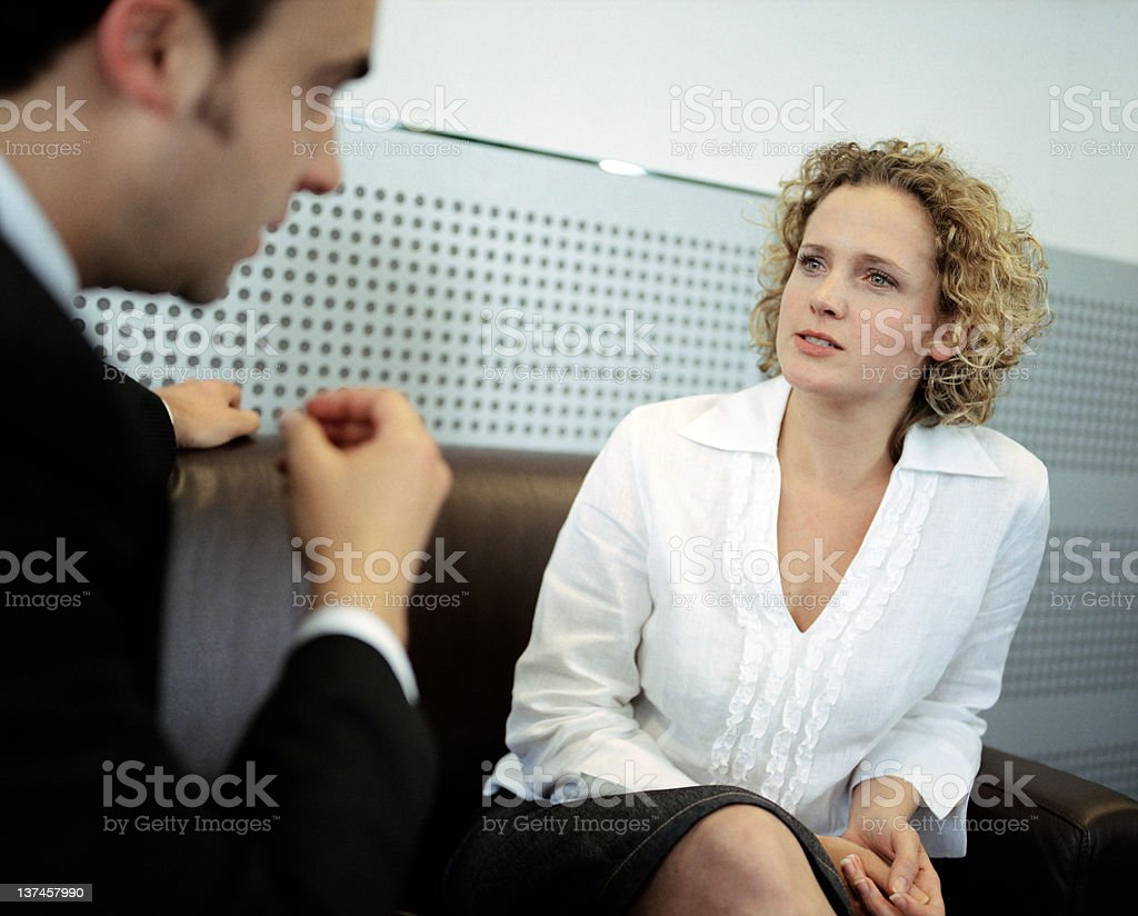 Tough Job Interview royalty-free stock photo