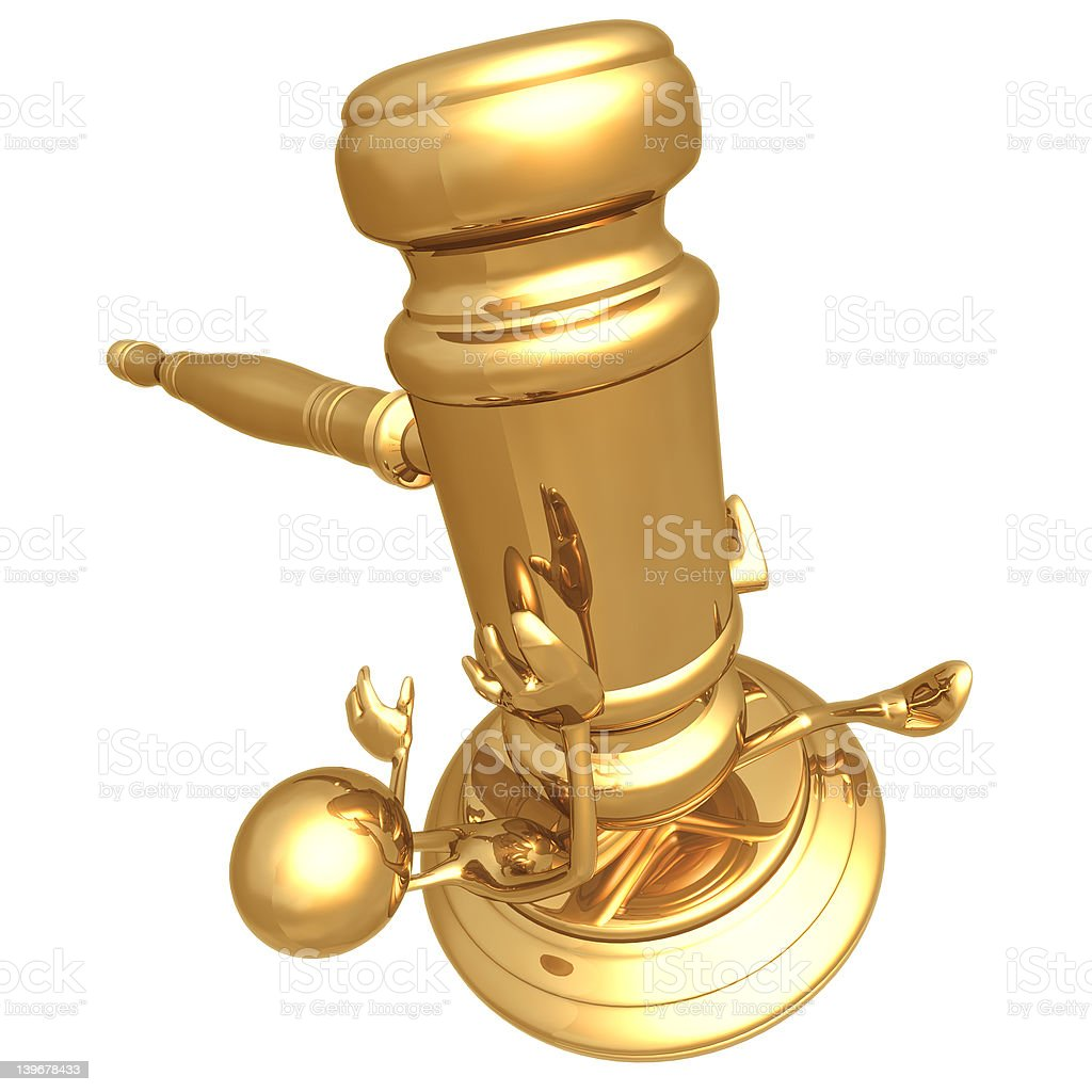 Tough Justice royalty-free stock photo