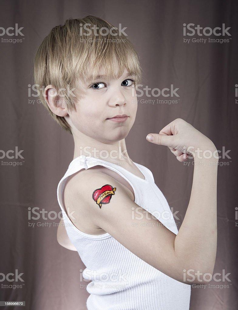 Wytrzymałe Dziecko Z Tatuaż Stockowe Zdjęcia I Więcej Obrazów