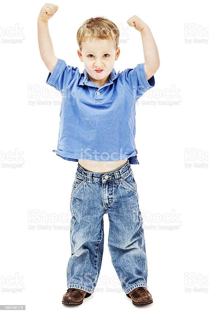 Tough Little Man royalty-free stock photo