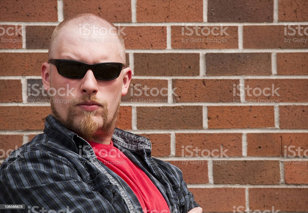 Tough Man stock photo