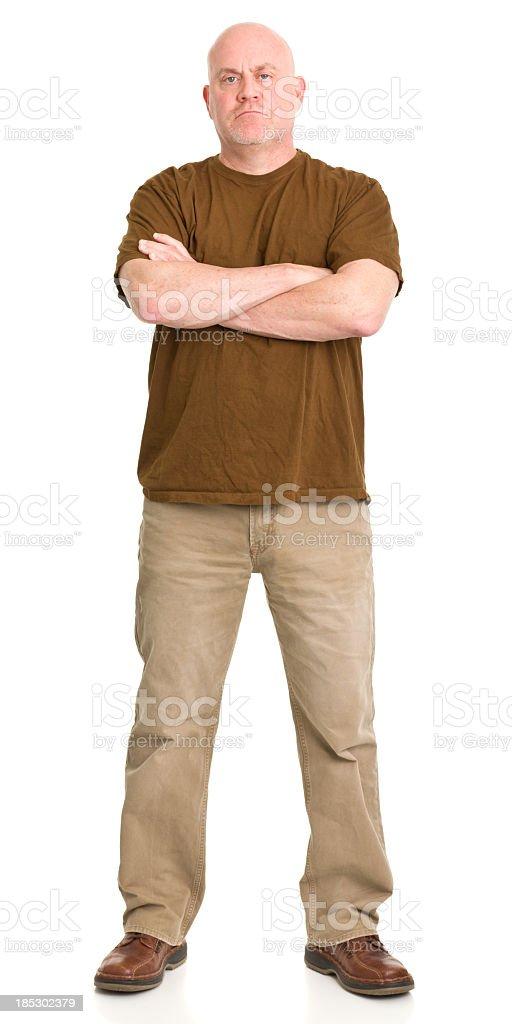 Tough Man Standing Portrait stock photo