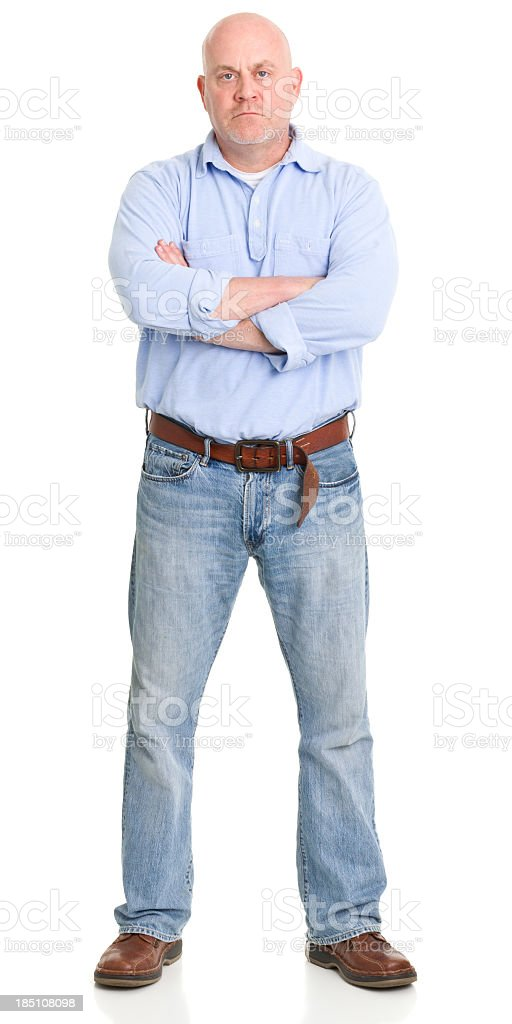 Tough Man Standing With Arms Crossed stock photo
