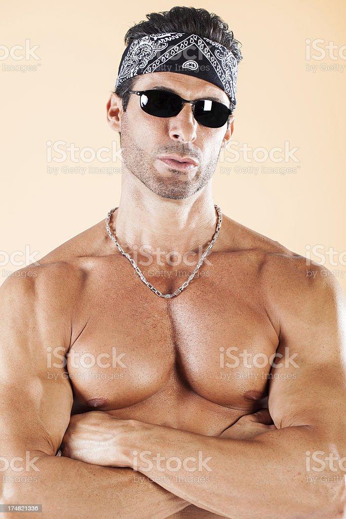 Tough muscular man portrait royalty-free stock photo