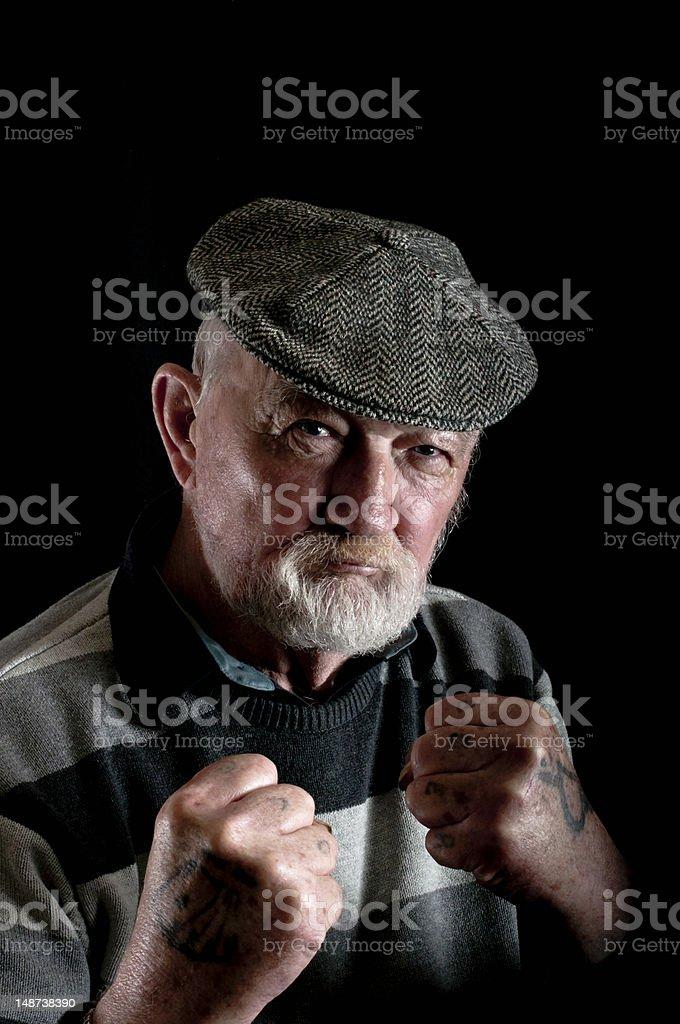 Forte homem velho - foto de acervo