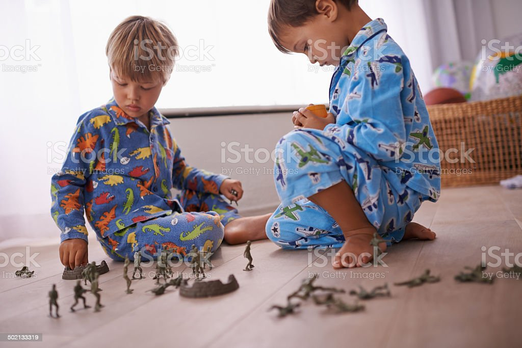 Tough soldiers stock photo