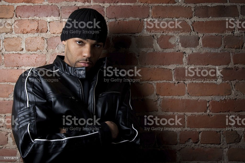 Tough street guy royalty-free stock photo
