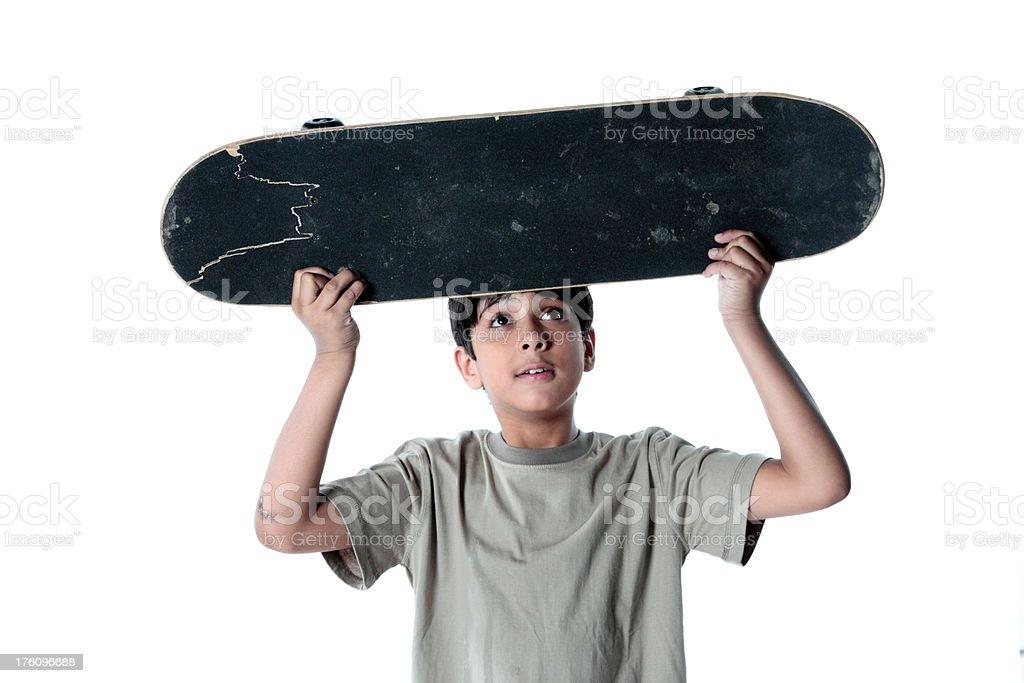 Tough Teen Skateboarder stock photo