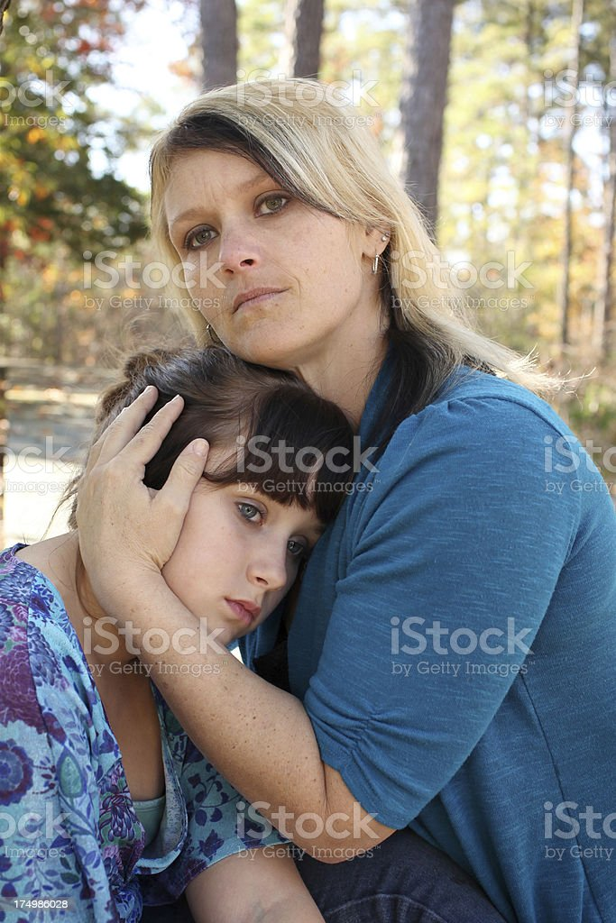 Tough Times for a mother and her child. royalty-free stock photo