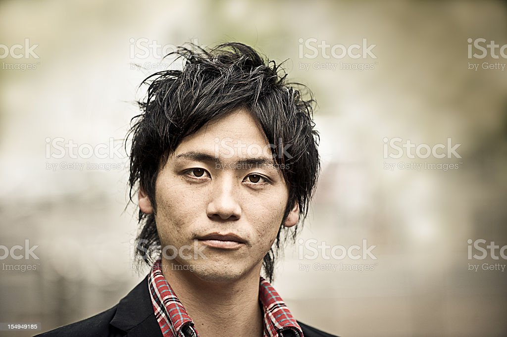 Tough Young Asian Guy Portrait royalty-free stock photo