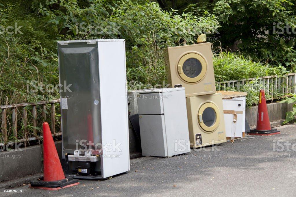 Toughen penalties for illegal dumping stock photo