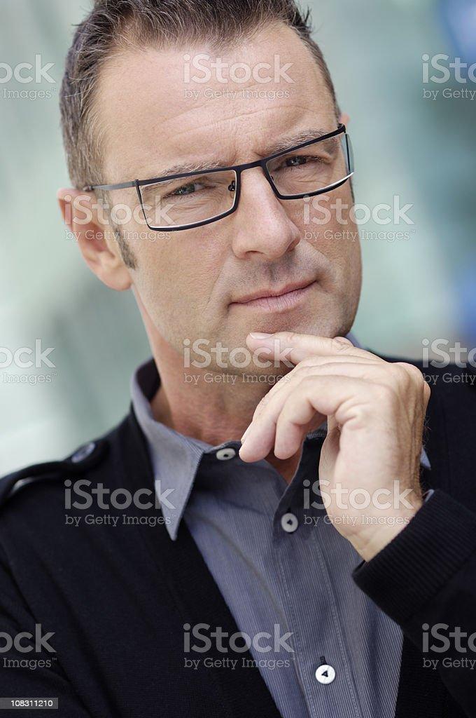 Toughtful businessman royalty-free stock photo