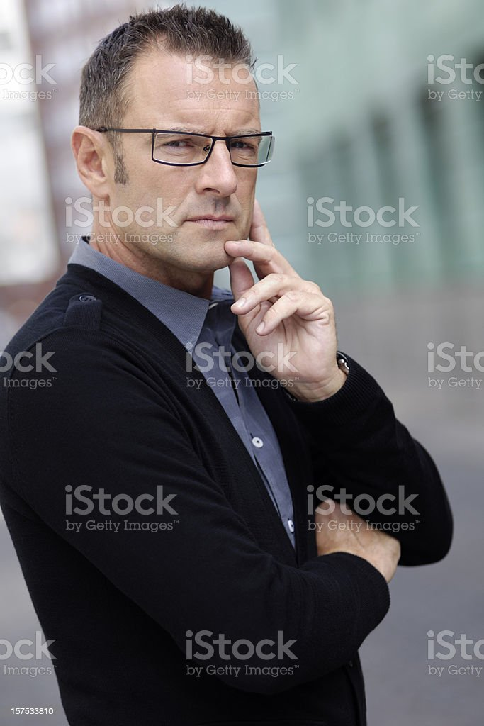 Toughtful businessman royalty-free stock photo