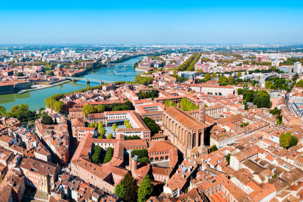 Toulouse Luftpanorama, Frankreich – Foto