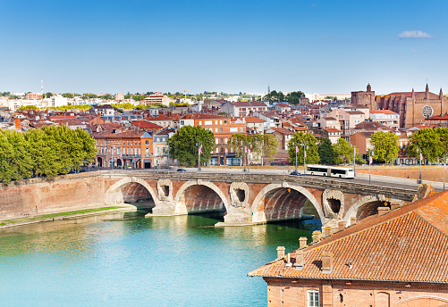 istock Toulouse and Pont Neuf bridge across Garonne river 1094445216