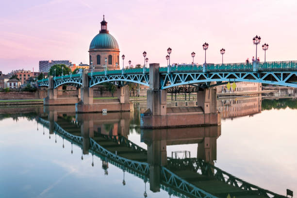 Toulouse at sunset stock photo