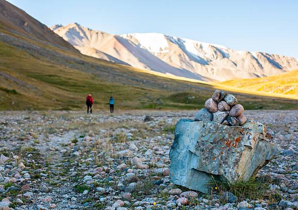 tour around the mountain trails stock photo