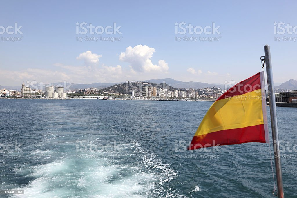 Tour boat in Spain royalty-free stock photo