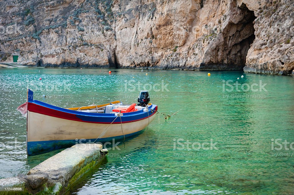 Tour Boat Tied in the Inland Sea royalty-free stock photo